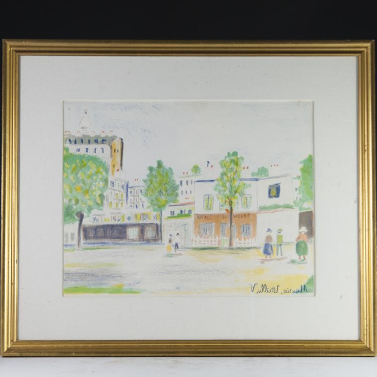Attributed to Maurice (Valadon) Utrillo (French 1883-1955) Gouache on Paper