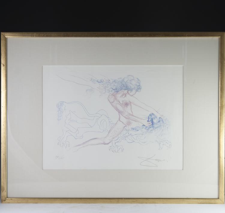 Salvador Dali (Spanish 1904-1989) Color Engraving