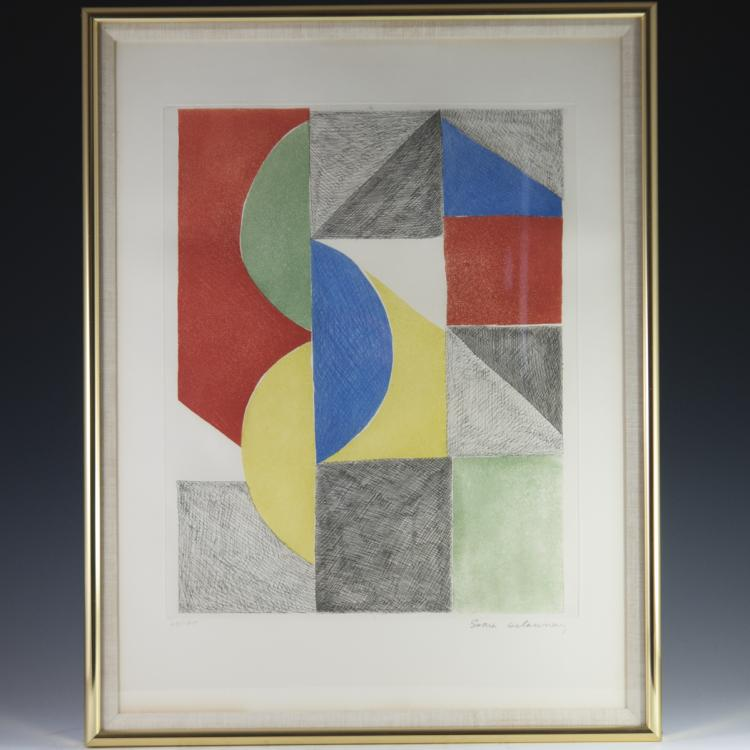 Sonia Delaunay (French 1885 - 1979) Signed Lithograph