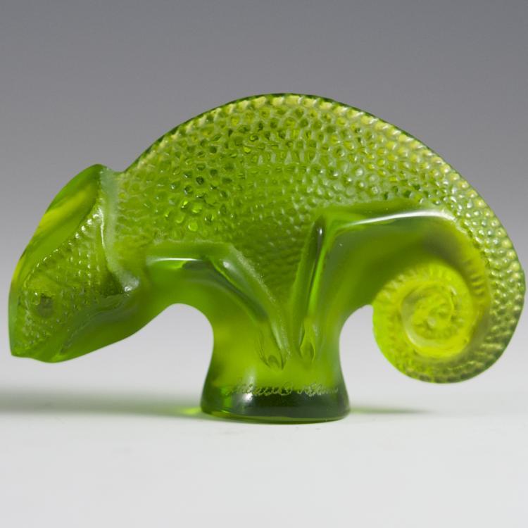 Lalique Crystal Chameleon