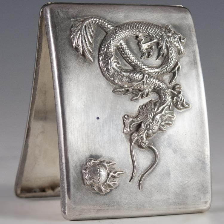 Chinese Silver Cigarette Case