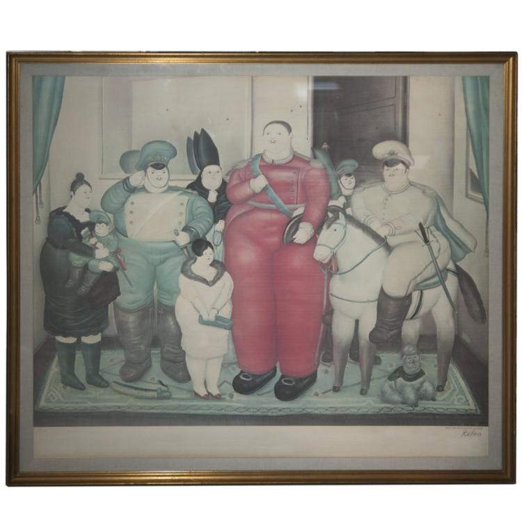 Fernando Botero (Colombian b.1932) Signed Lithograph
