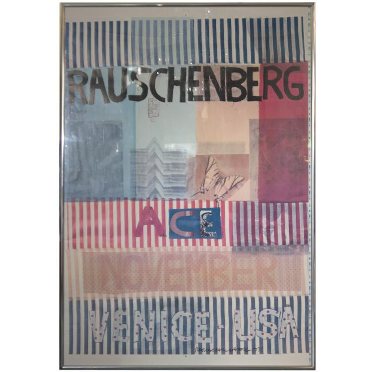 Robert Rauschenberg (American 1925-2008) SIGNED