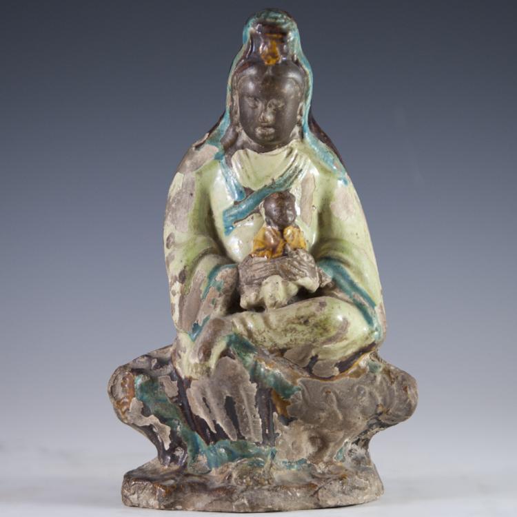 Ming Sancai Terracotta Guanyin