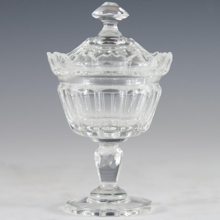 Crystal Lidded Compote