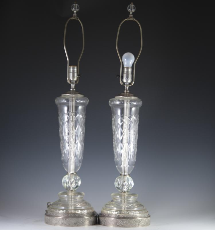 Silverplated Crystal Lamps