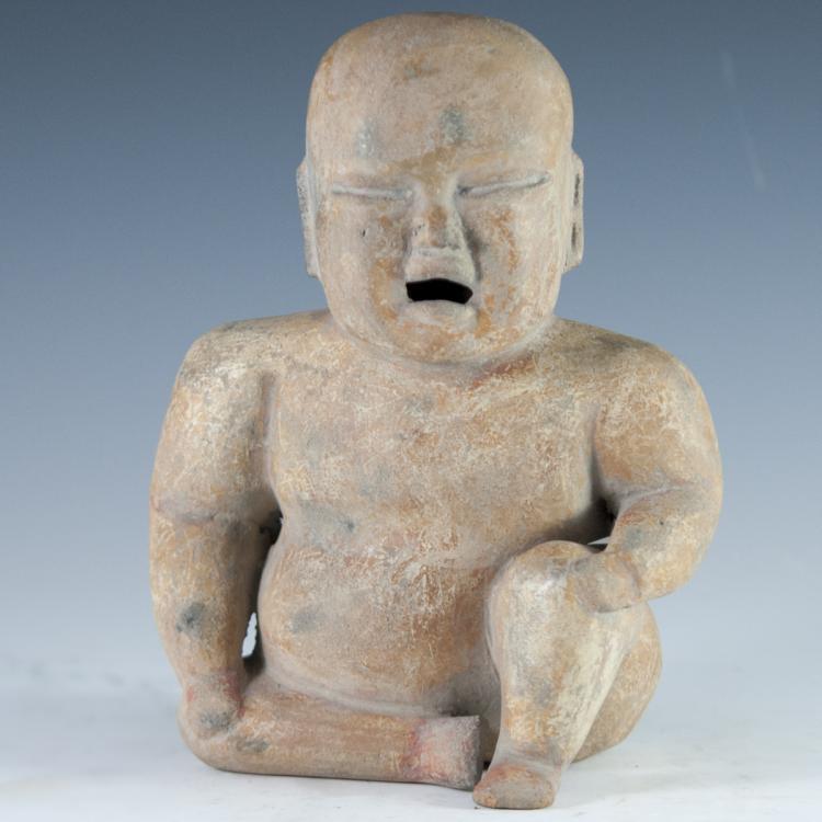 Antique Asian Terracotta Figurine