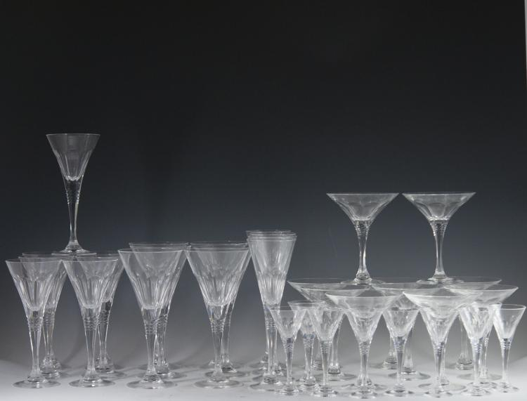 Signed Crystal Stemware Set