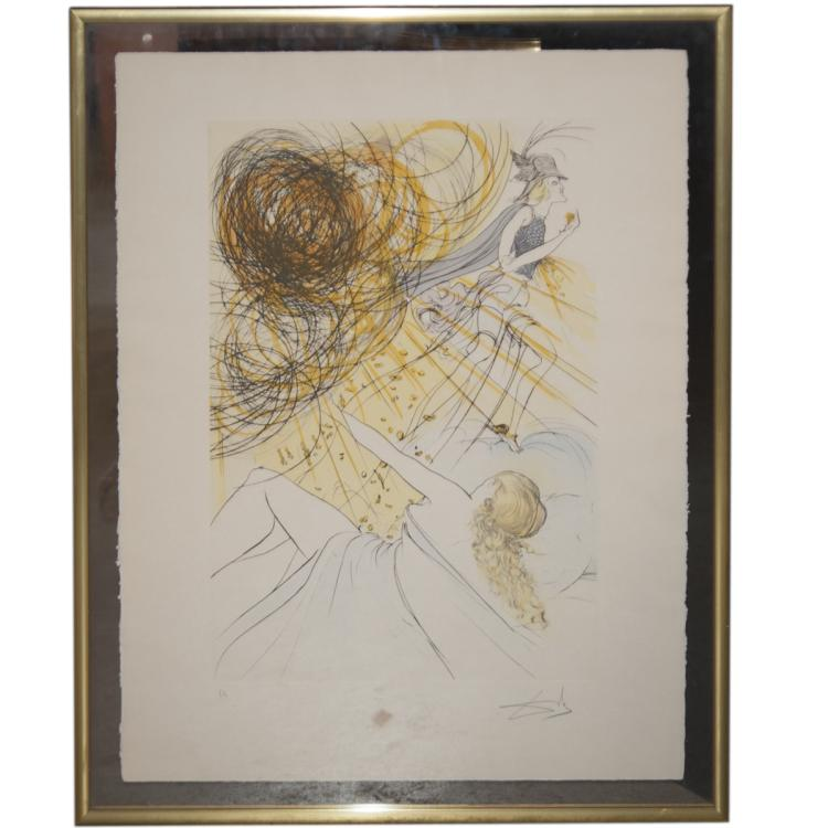 Salvador Dali (Spanish 1904-1989) Artist Proof Lithograph