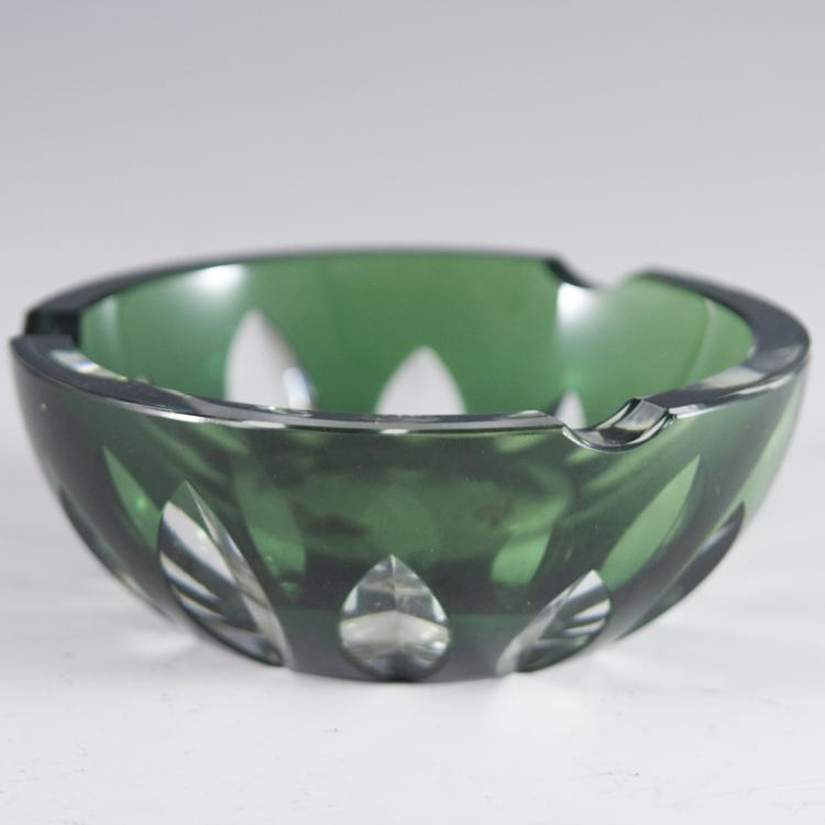 Val St. Lambert Crystal Ashtray