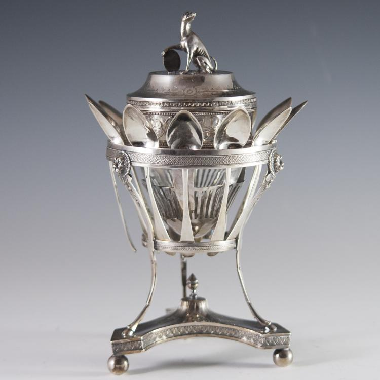 Antique Pierre Phillippe Rosseau Sterling Sugar Cellar