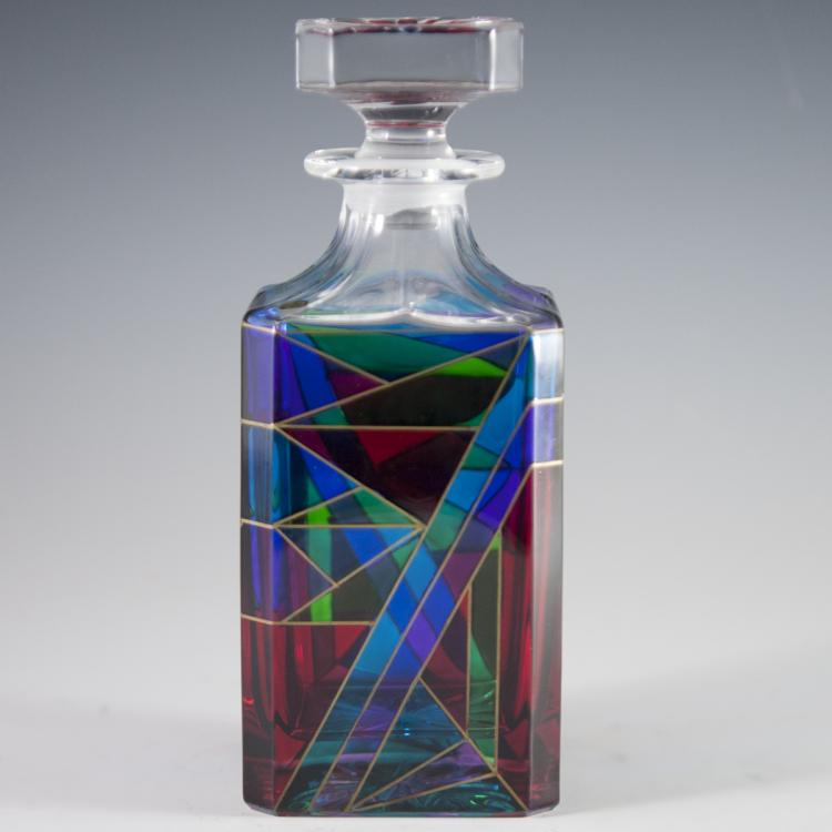 Handpainted Murano Glass Decanter