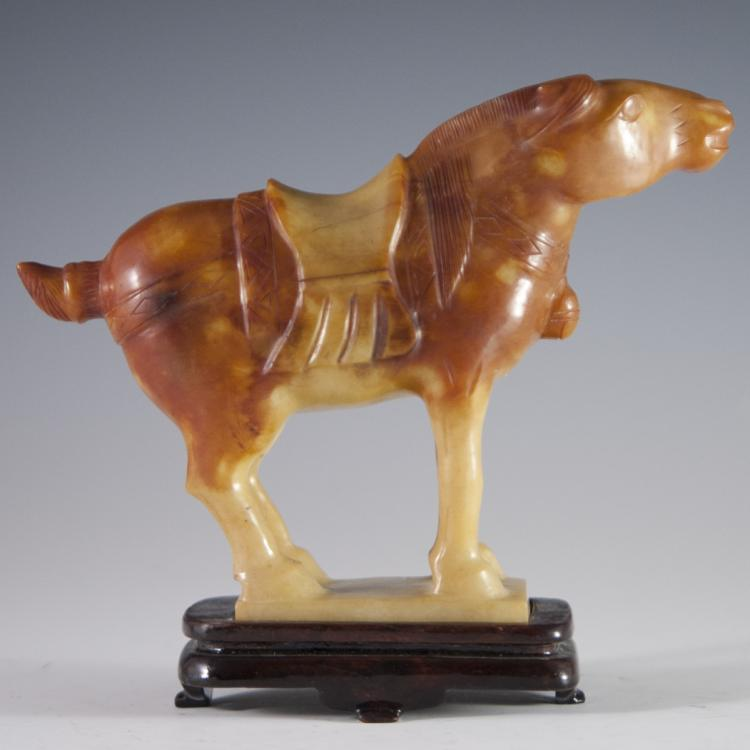 Antique Jade Horse Carving