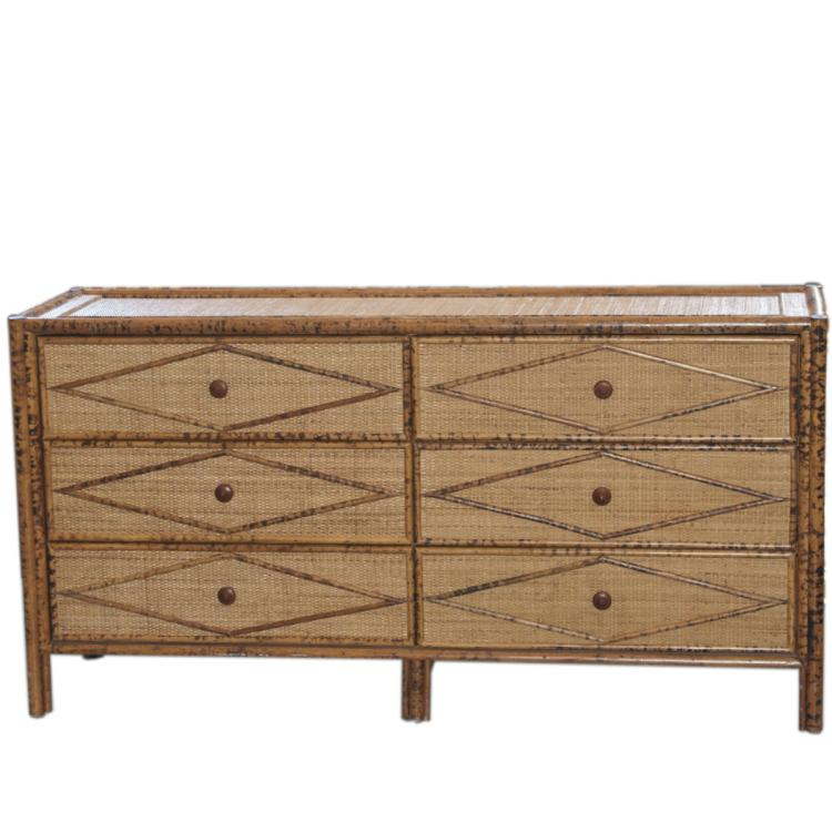 Vintage Wicker Bamboo Furniture Set