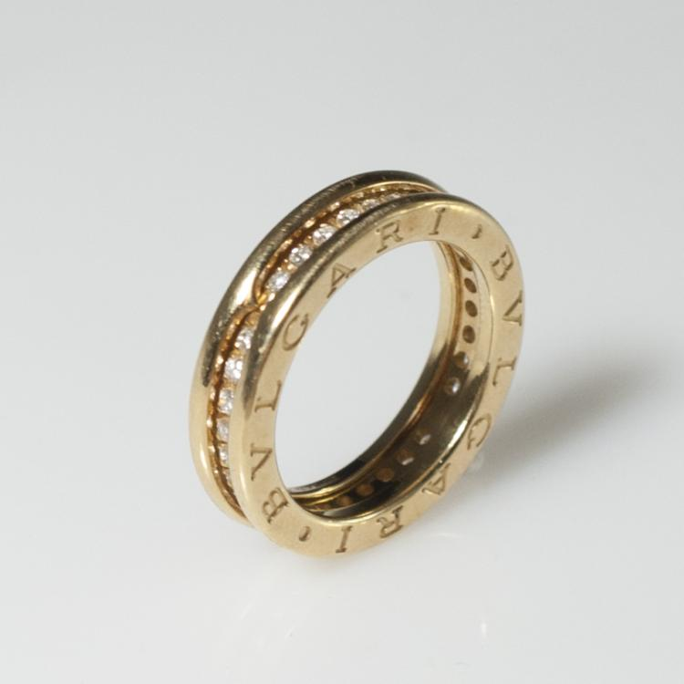 Bvlgari 18kt Gold & Diamond Wedding Band