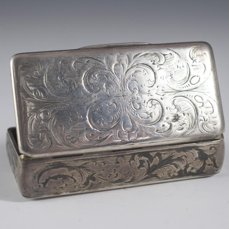 Russian Silver Niello Box