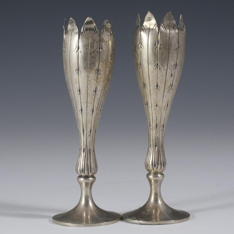 F. Lastretti Sterling Candlesticks