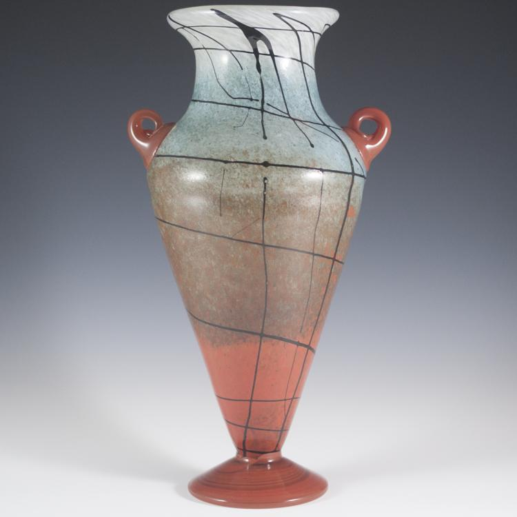 Signed Murano Glass Vase