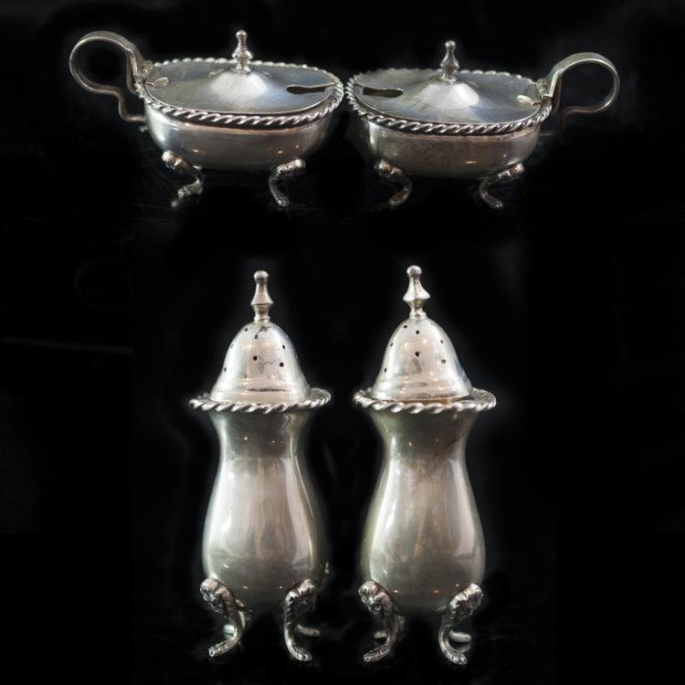 .800 Silver Salt & Pepper Set