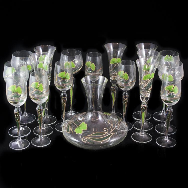 Nagel Hand Painted Wine Glass Set