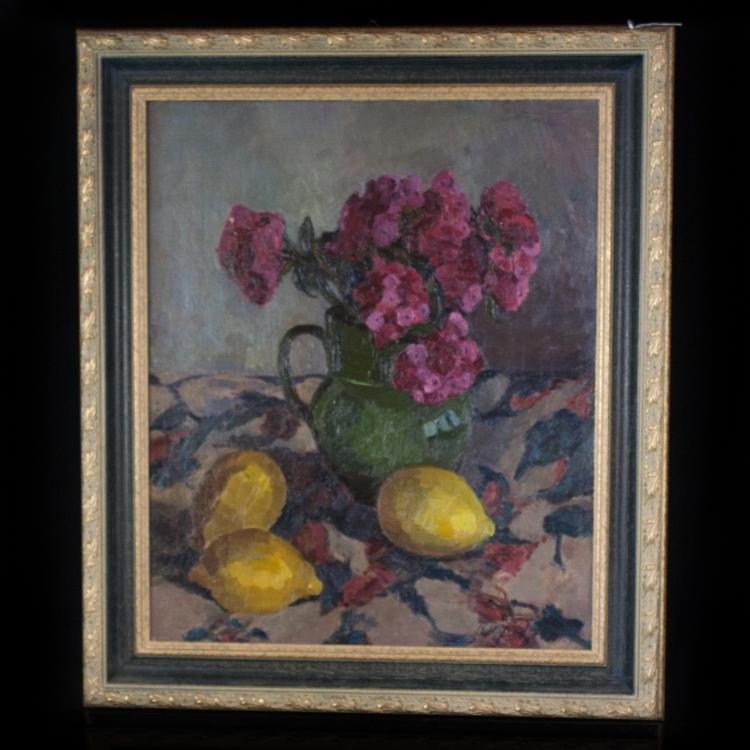 Antoinette Destrem (French 1941) Oil Painting