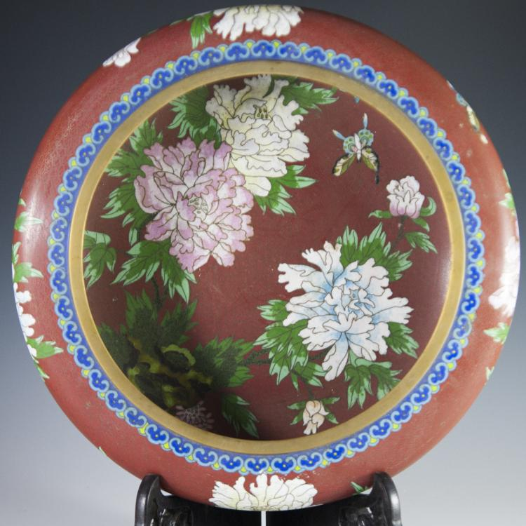 Vintage Chinese Cloisonne Enameled Planter