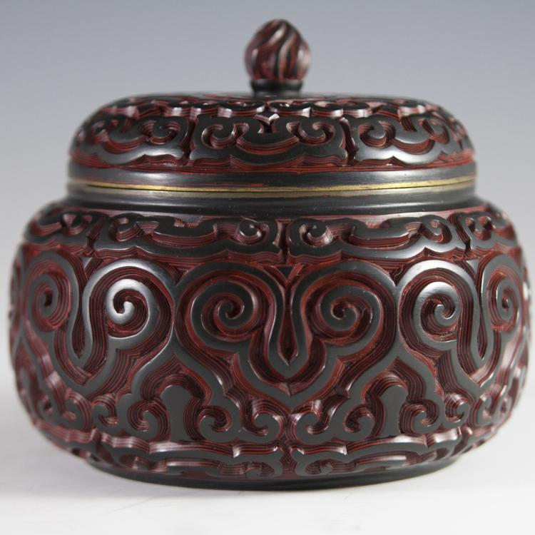 Carved Lacquered Cinnabar Box