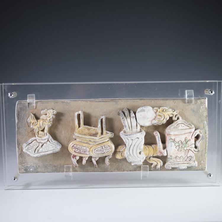 Ming Dynasty Chinese Terracotta Fresco