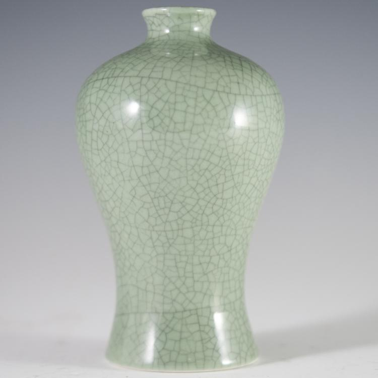 Chinese Baluster Crackle Vase