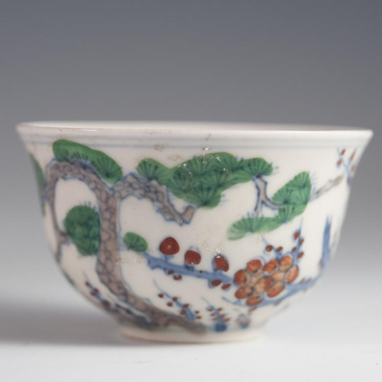 Antique Chinese Porcelain Rice Bowl