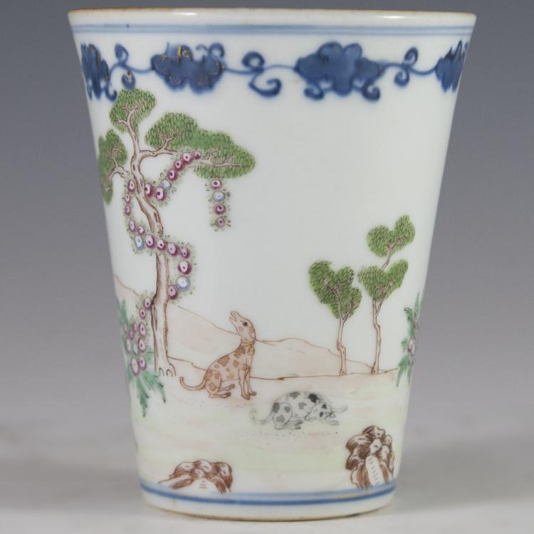 Antique Celadon Chinese Beaker