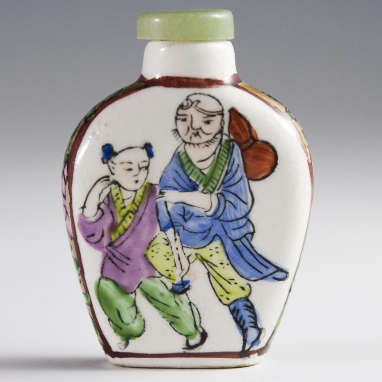 Chinese Rose Medallion Snuff Bottle