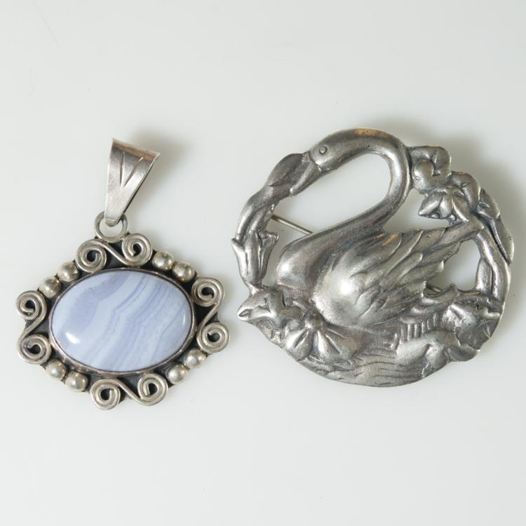 Sterling Pin & Pendant