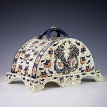 Antique Ceramic Lidded Cheese Dish