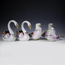 Hollohaza Porcelain Fishnet Figurines