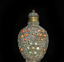 Antique Chinese mixed metals Snuff Bottle