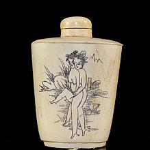 Chinese Erotic Ivory Snuff Bottle