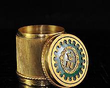 Bronze Gilded Napoleon Diamond Box