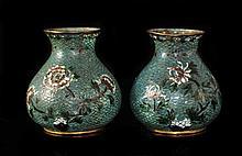Pair of Antique Cloisonne Vases