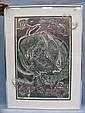 Wood block print 1978, by Joseph Senungutek 66/75