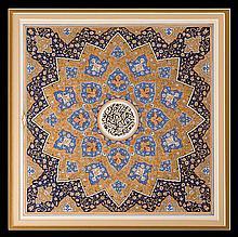Universe, 2011 - لوحة إسلامية مزخرفة بالمينا الملونة للفنان