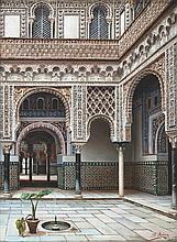 The Alcázar of Seville - خوسيه أرياس (إسباني، القرن 19) قصر إشبيلية