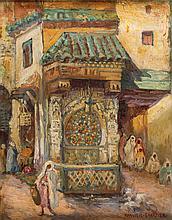 Nejjarne Fountain in Fez - لوسي رانفييه كارتييه (فرنسي، 1932 - 1867) نافورة النجارين بفاس