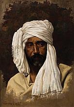 Portrait of An Arab Gentleman - لويجي دي سفري (إيطالي، 1945 - 1863) صورة لرجل عربي