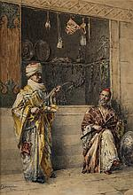 The Arms Dealer - إ. بوناني (المدرسة الإيطالية،أواخر القرن 19 - أوائل القرن 20 ) تاجر الأسلحة