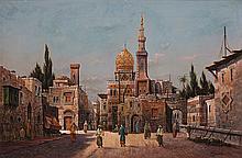 Veduta de Il Cairo - هنري غارنييه (فرنسي، أواخرالقرن 19 - أوائل القرن 20) مشهد لمدينة القاهرة