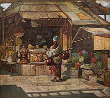 Market Scene - جيولا تورناي (هنغارية، 1928 - 1861) مشهد لسوق