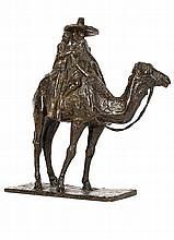 Couple Riding a Camel - هونوري سوسي (فرنسي، 1936 - 1891) مجسم برونزي لزوجين يمتطيان جمل