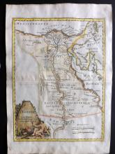Le Rouge, George Louis 1748 Hand Coloured Map of Egypt