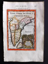 Mallet, Alain Manesson 1683 Hand Coloured Map of India & Ceylon